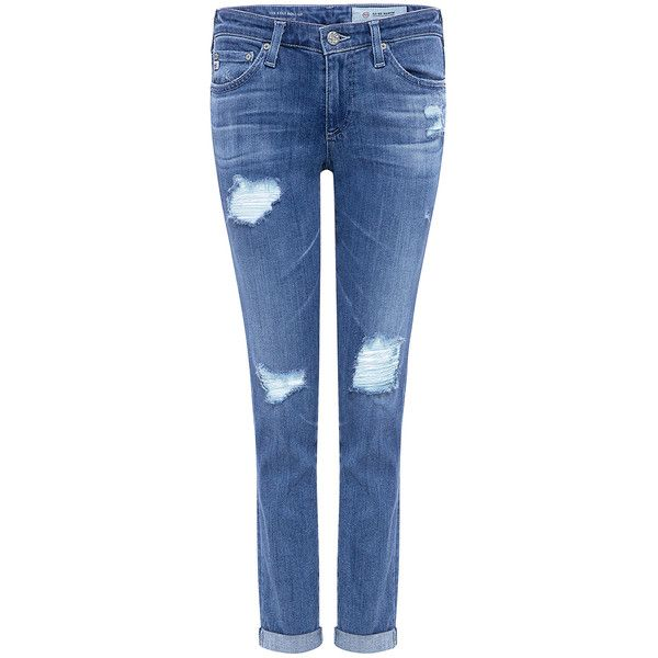 Ag Jeans - Stilt Roll-Up Low Rise Distressed Skinny Jeans ($225) ❤