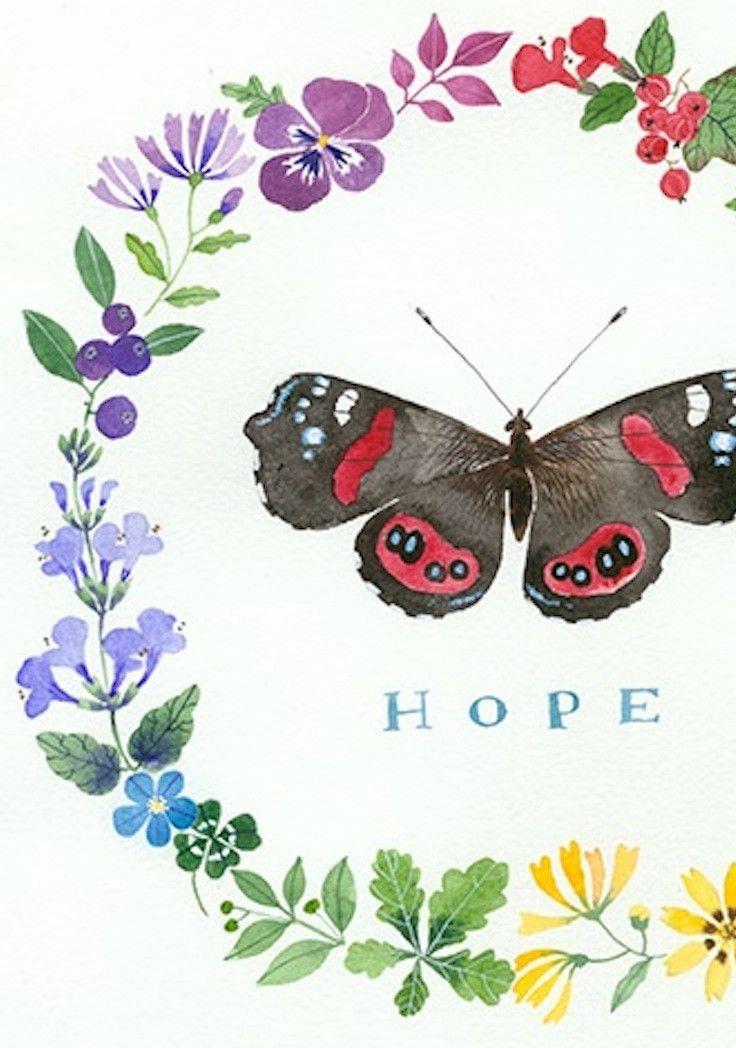 Hope Wreath - Print by Gabby MALPAS | PLATFORMstore | Archival Print of Watercolour on Paper