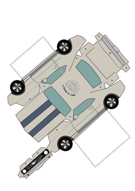 Une Voiture En Papier Origami Desenhos De Carros Carrinhos De