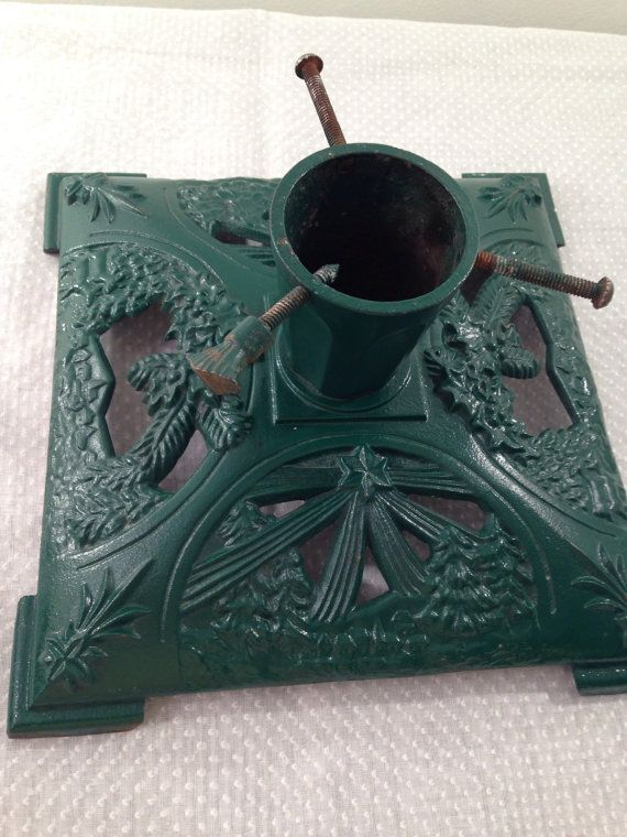 Vintage Cast Iron Christmas Tree Stand by ChristmasGoose on Etsy | Christmas tree stand, Tree ...