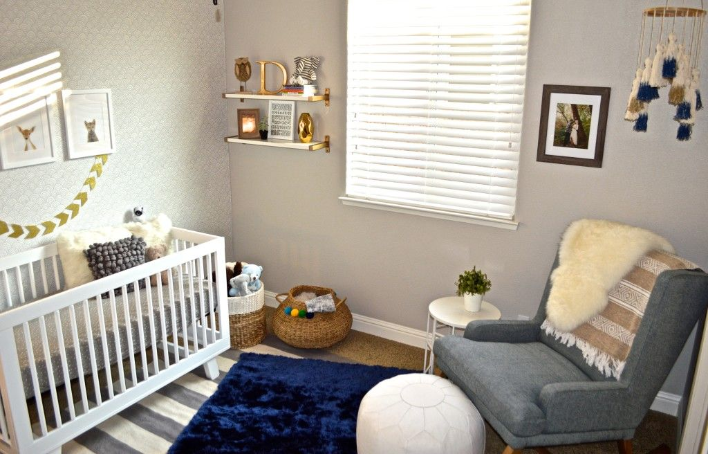 Modern Blue Grey And Gold Nursery Project Nursery Gold