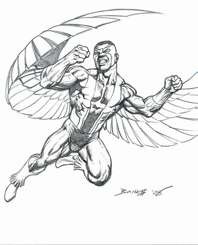 Falcon By Darryl Banks Darrylbanks Thefalcon Samwilson Avengers Shield Vingadores Para Colorir Desenhos Pra Colorir Falcao Vingadores