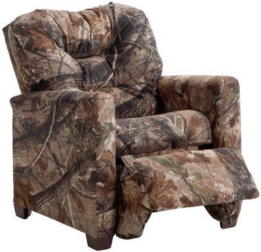 Delightful Realtree AP Camo Kids Recliner #RealtreeAp | Camo Home Decor .