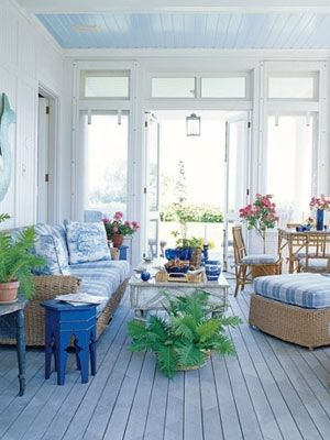 Blue Sun Porch 10 Simple Summer Decorating Ideas