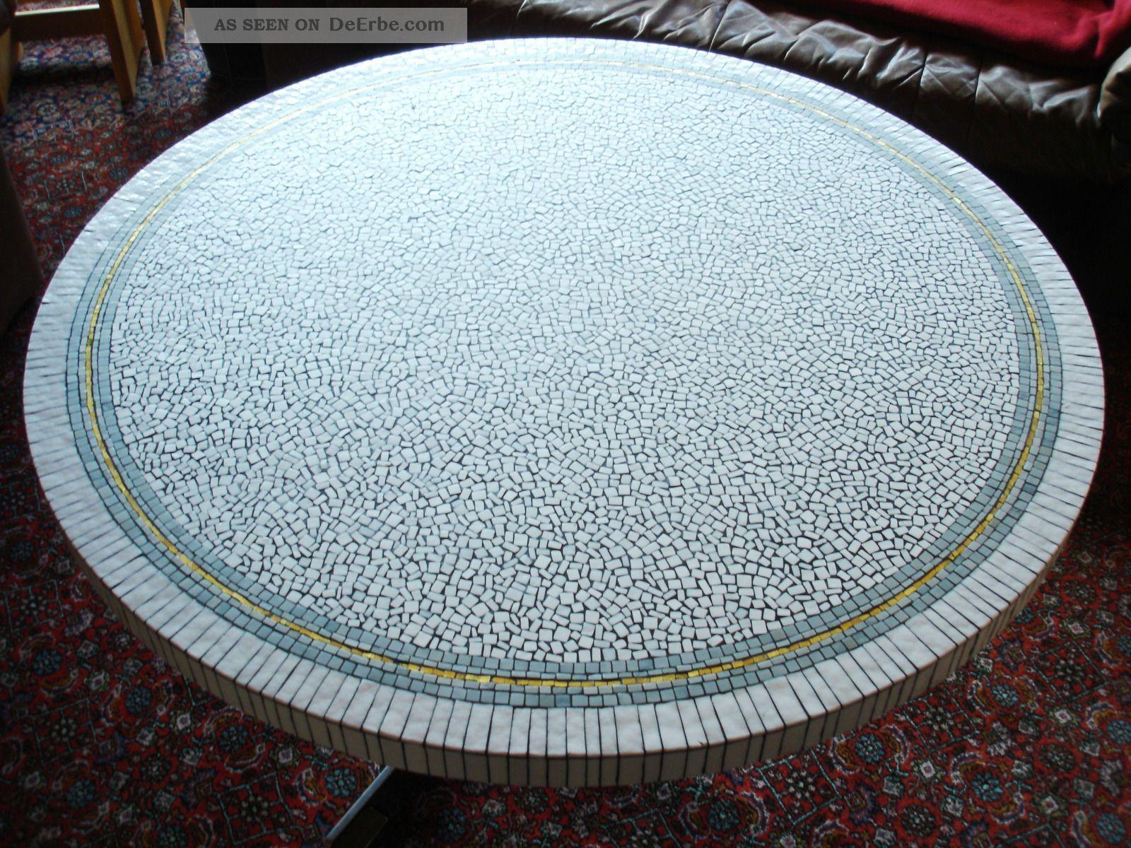 Mosaik Tisch Rundtisch Space Age 70er Raritat Einzelstuck Unikat