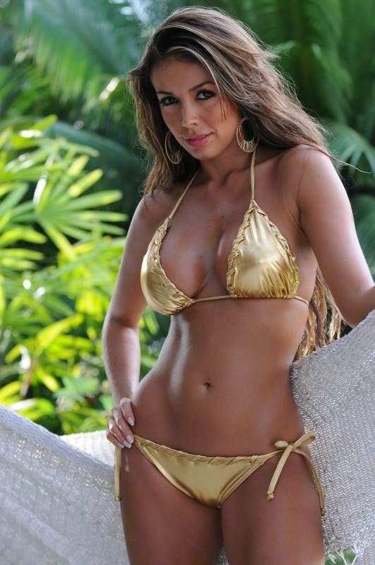 4b4816fde0 Metallic Gold String Bikini  metallic  gold  string  bikini ...