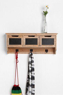 Reclaimed Wood Chalkboard Shelf