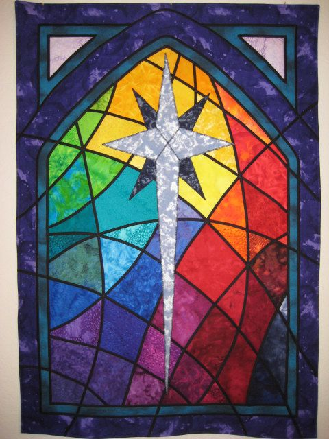 Pin By Caroline Osborne On Personalized Home Decor Cross Quilt Church Banners Designs Stained Glass Quilt