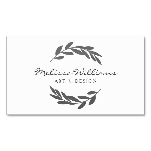 olive designs rustic olive branch wreath logo business card business cards