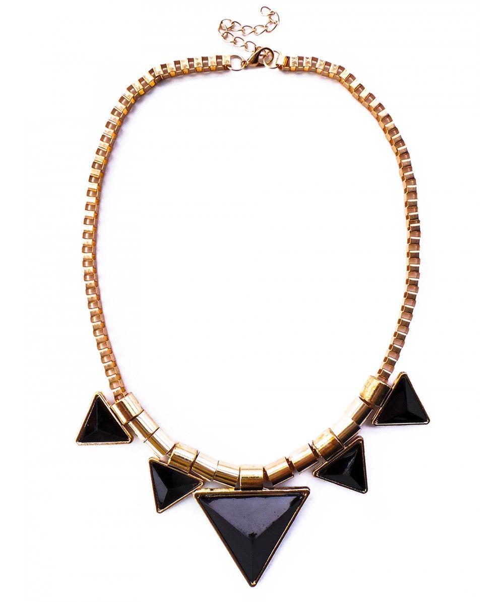 Five Black Triangles Necklace @ www.InMyDresser.com
