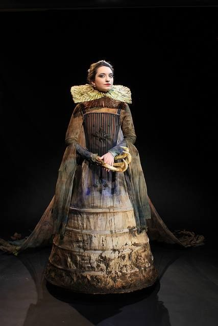 Costume by Katie Garden, Wimbledon Costume Design student, evoking vanity theme in the baroque period #baroque