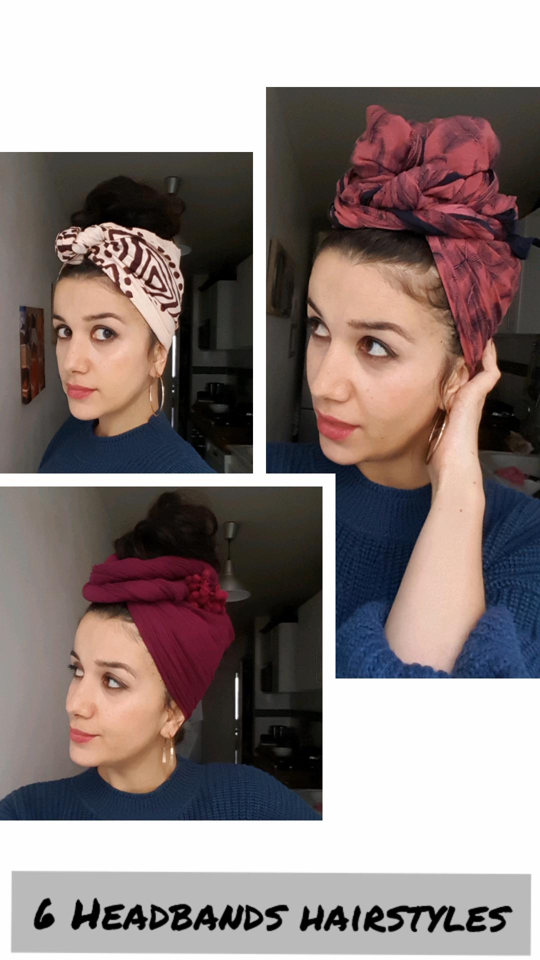 6 coiffures avec un foulard