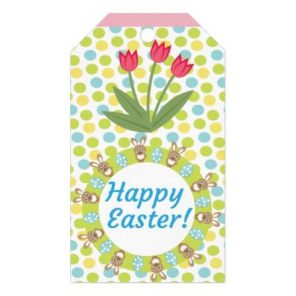 Personalized floral bunny easter gift tags negle Gallery