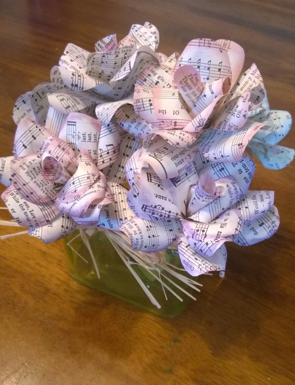 Pink and purple music note paper flowers music pinterest note pink and purple music note paper flowers mightylinksfo