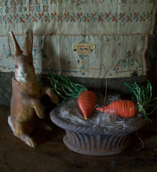 bunny and carrots, crazy.