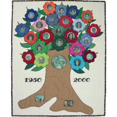 My Family Tree Quilt Pattern http://www.victorianaquiltdesigns.com/VictorianaQuilters/PatternPage/MyFamilyTree/MyFamilyTree.htm #quilting #familytree #keepsake