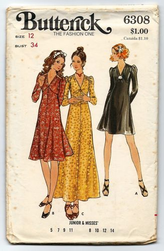 5a6dc2c9cca09 ... Maxi Dress Junior Size 7 Sewing Pattern UNCUT. 1970 s
