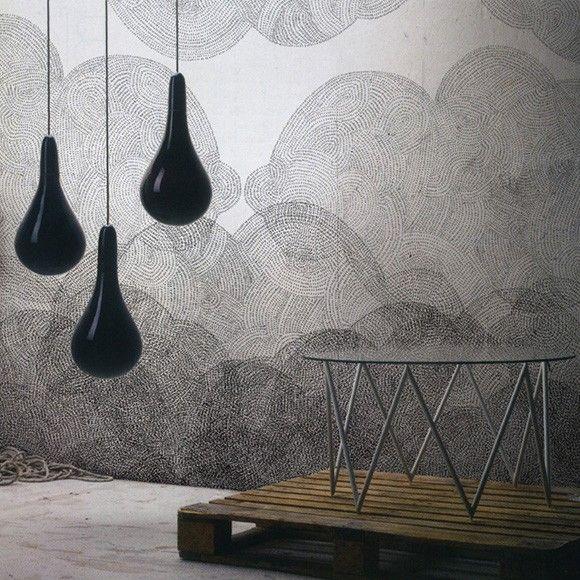 Papir peint Cloudy de BienFait en vente chez Au fil des Couleurs