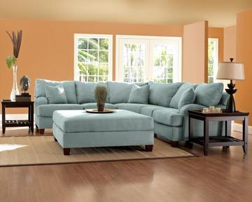 Canyon Sky Sectional Sofa By Klaussner With Images Brown Sectional Sofa Sectional Sofa Living Room Furniture
