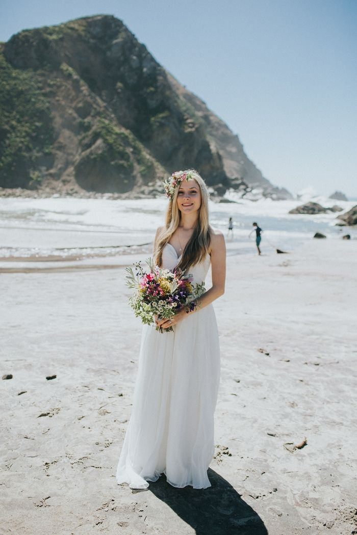Victoria And William S Beach Wedding In Sur Small Weddings Intimate