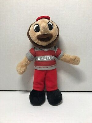 "Ohio State Buckeyes Brutus Stuffed Mascot 8"" OSU"