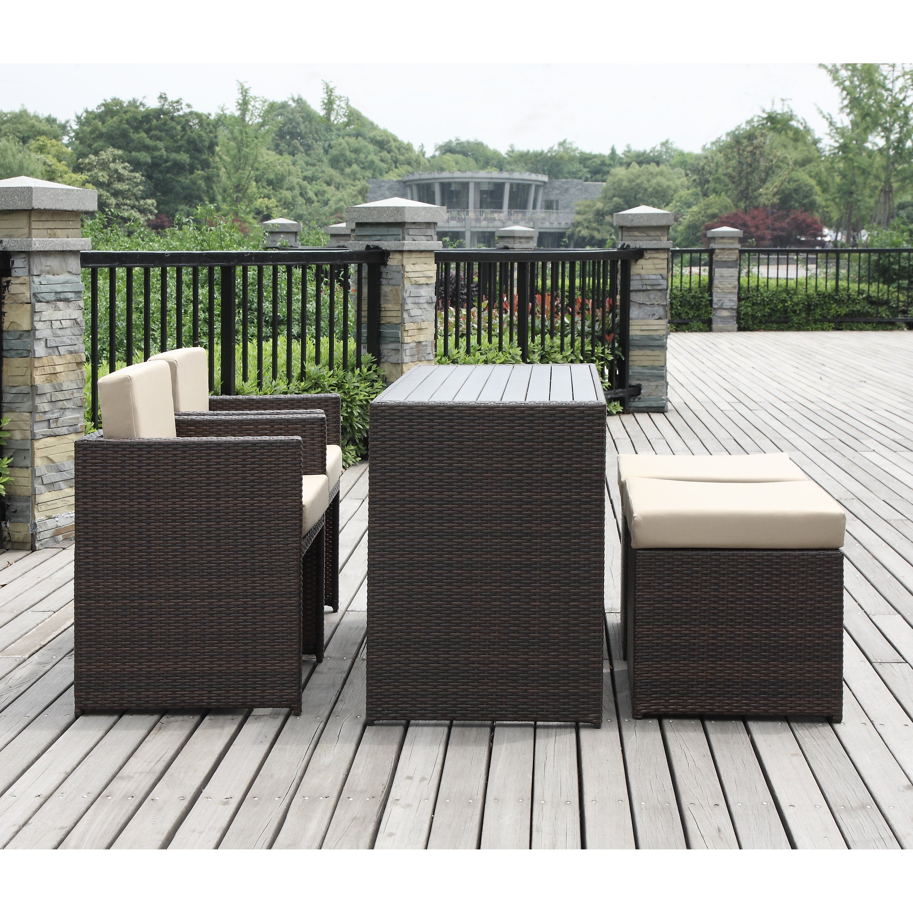 Beachcrest home lisa 5 piece seating group with cushion