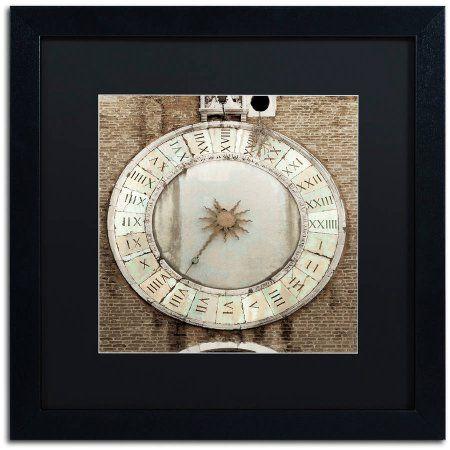 Trademark Fine Art Il Grande Orologio V Canvas Art by Alan Blaustein, Black Matte, Black Frame, Size: 16 x 16, Bronze