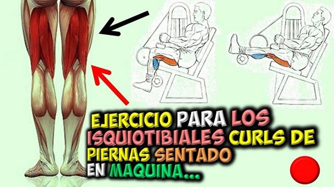Ejercicio Para Isquiotibiales Curls De Piernas Sentado En Maquina Youtube Comic Book Cover Comic Books