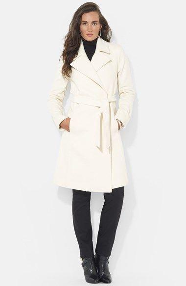 31b746ee14830 Lauren Ralph Lauren Wool Blend Wrap Coat (Online Only) available at   Nordstrom