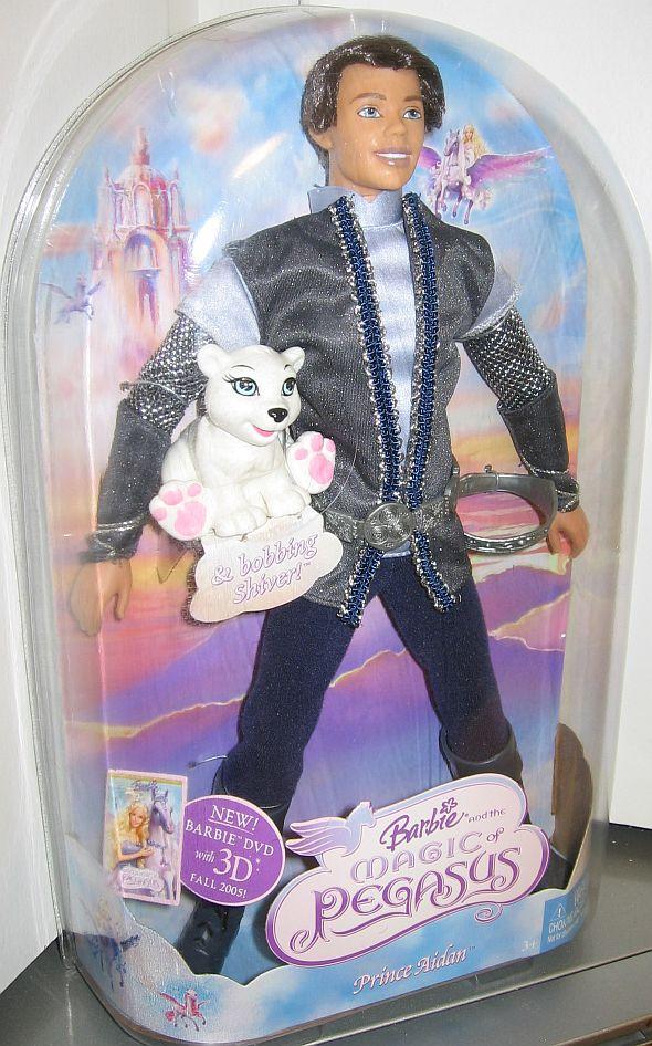 "2005 Barbie the Magic of Pegasus Prince Aidan Ken Doll McDonalds Toy Mattel 5/"""