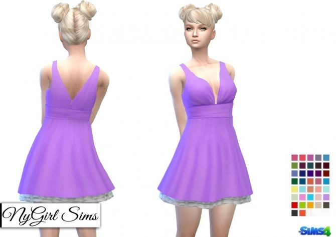 Tank Dress with Petticoat at NyGirl Sims • Sims 4 Updates