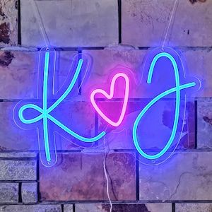 Custom Neon Sign for Wedding Initials Lettering Backdrop Decor | Etsy