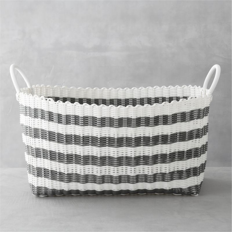 Laundry Baskets And Hampers Crate And Barrel Laundry Hamper