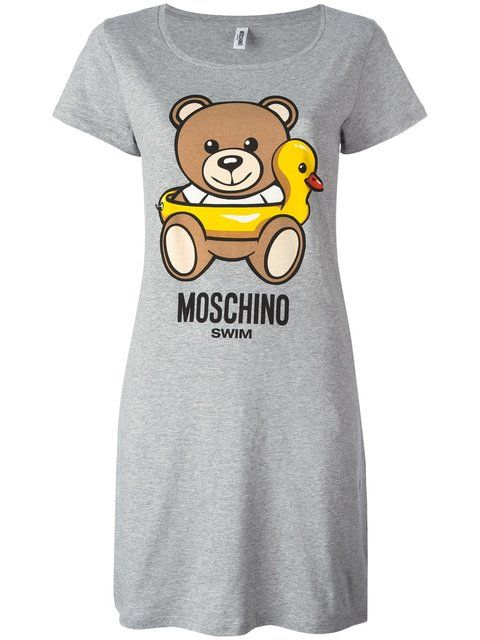 4c3bd1ebcd MOSCHINO bear print T-shirt dress.  moschino  cloth  dress