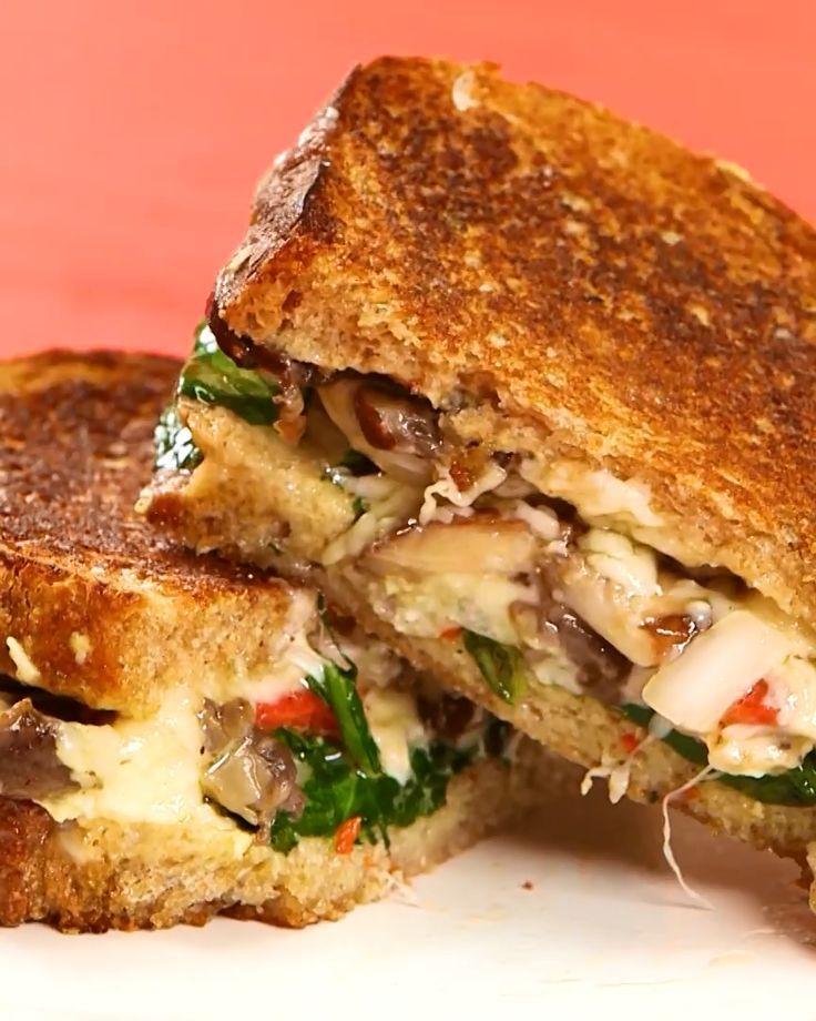 MEGA Chicken Pesto Grilled Cheese Sandwich   Don't
