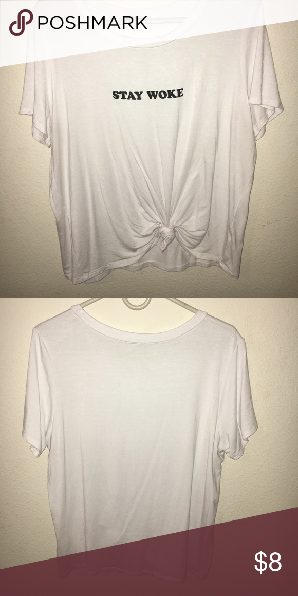 11cf0e09 STAY WOKE Graphic tee. Very cute cropped top! Never been worn Charlotte  Russe Tops Crop Tops