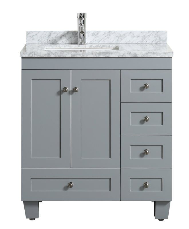 Kyndra Transitional 31 Single Bathroom Vanity Set Bathroom