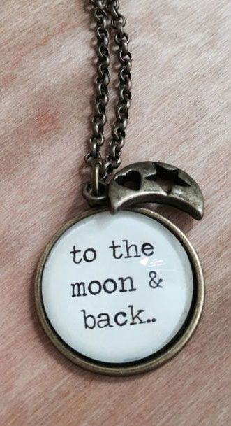 36a5b30028bb To The Moon And Back - Quote Necklace