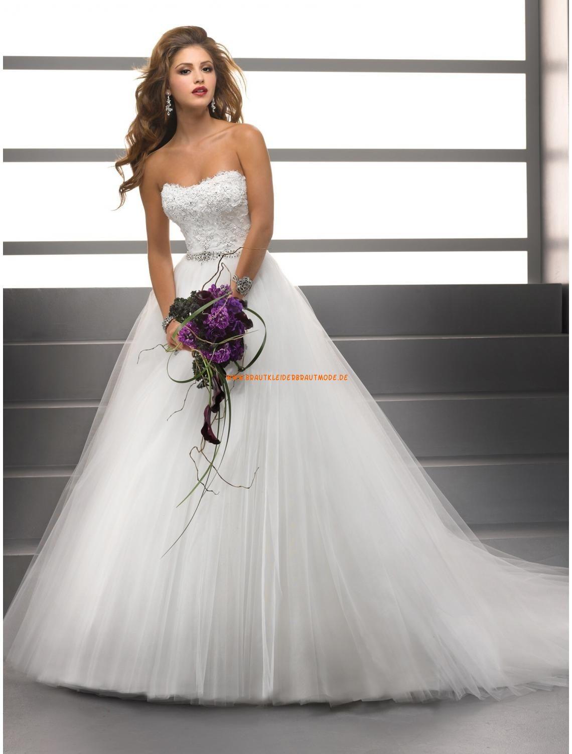 Sottero & Midgley Wedding A-linie Schönste Brautkleider aus Softnetz ...