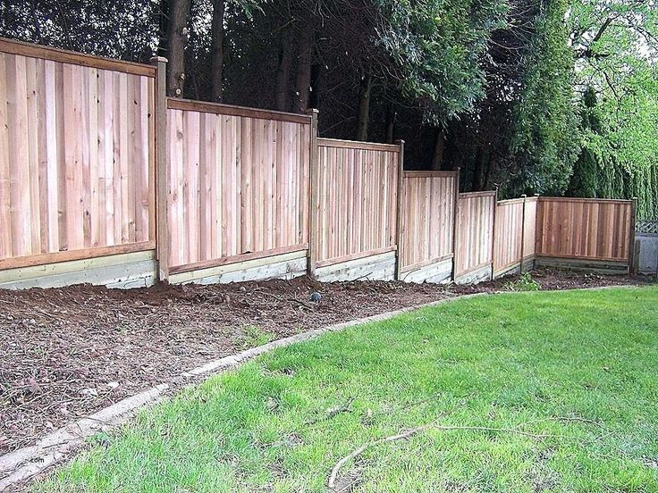 building a fence on uneven ground build fence uneven on inexpensive way to build a wood privacy fence diy guide for 2020 id=77250