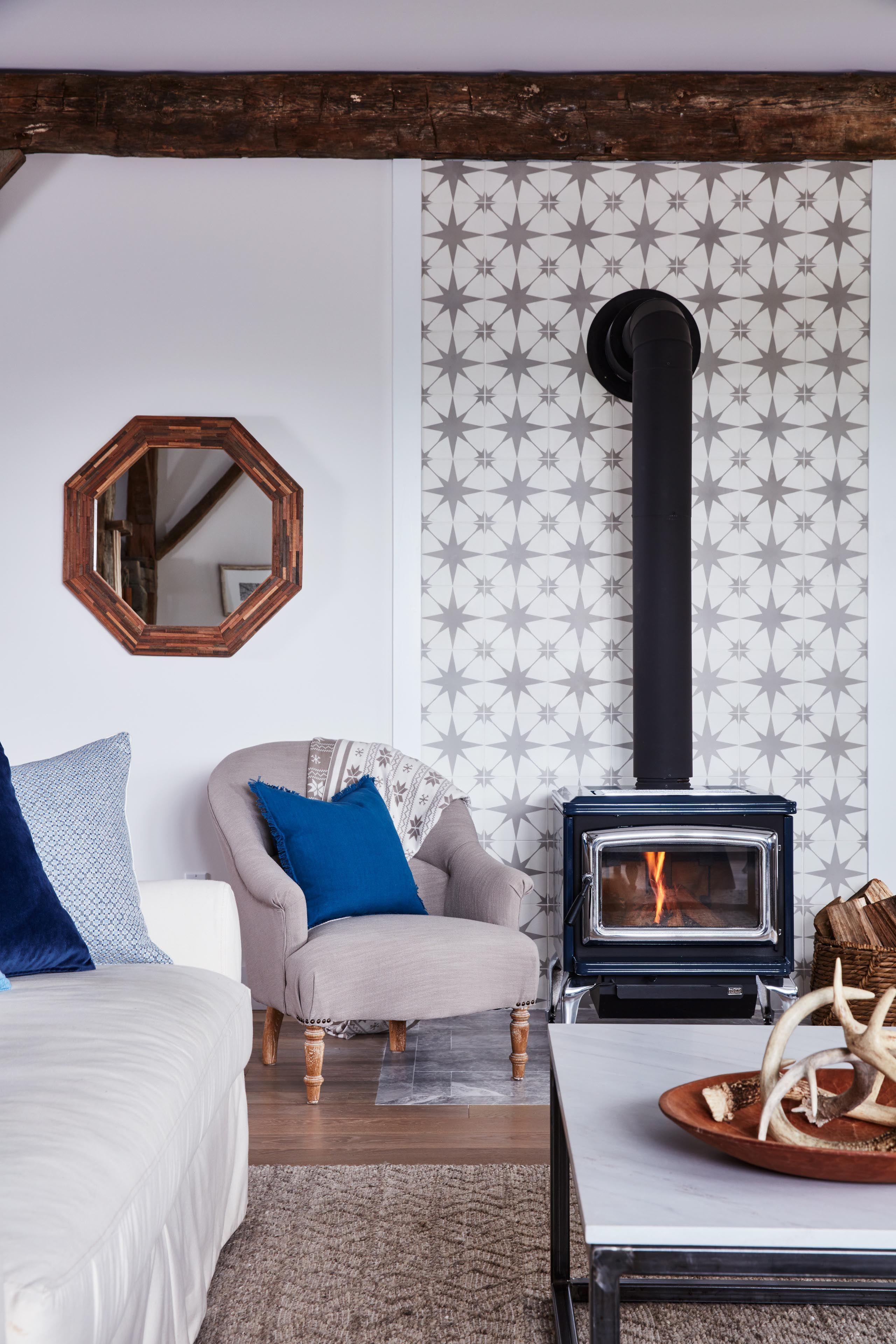 Sarah Richardson\'s Off-the-Grid Family Home | Wood burning, Stove ...