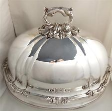 Antique Victorian Silver Plated Meat Food Cover Dome
