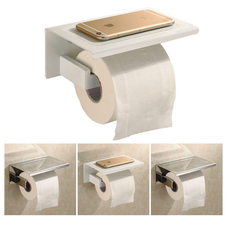 stainless steel toilet paper tissue holder wmobile phone