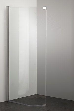 Photo of Buet glassdør er mye finere og lettere å holde ren enn et flaggrende dusjforhe…
