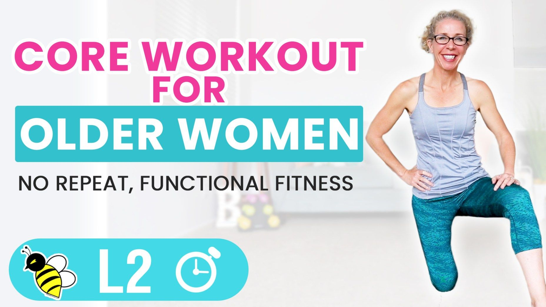 Empowering Core Workout for Older Women   Workout programs. Senior fitness. Workout