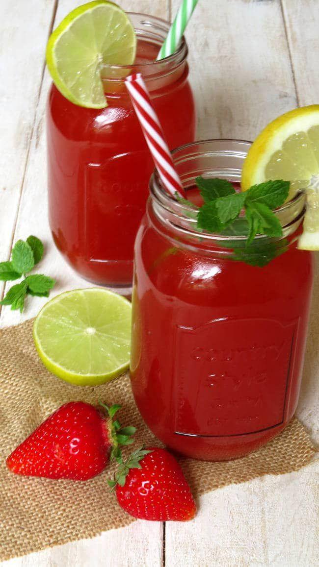 Erdbeer-Rhabarber Limonade | Recipe | Rezepte, Vegane rezepte and ...