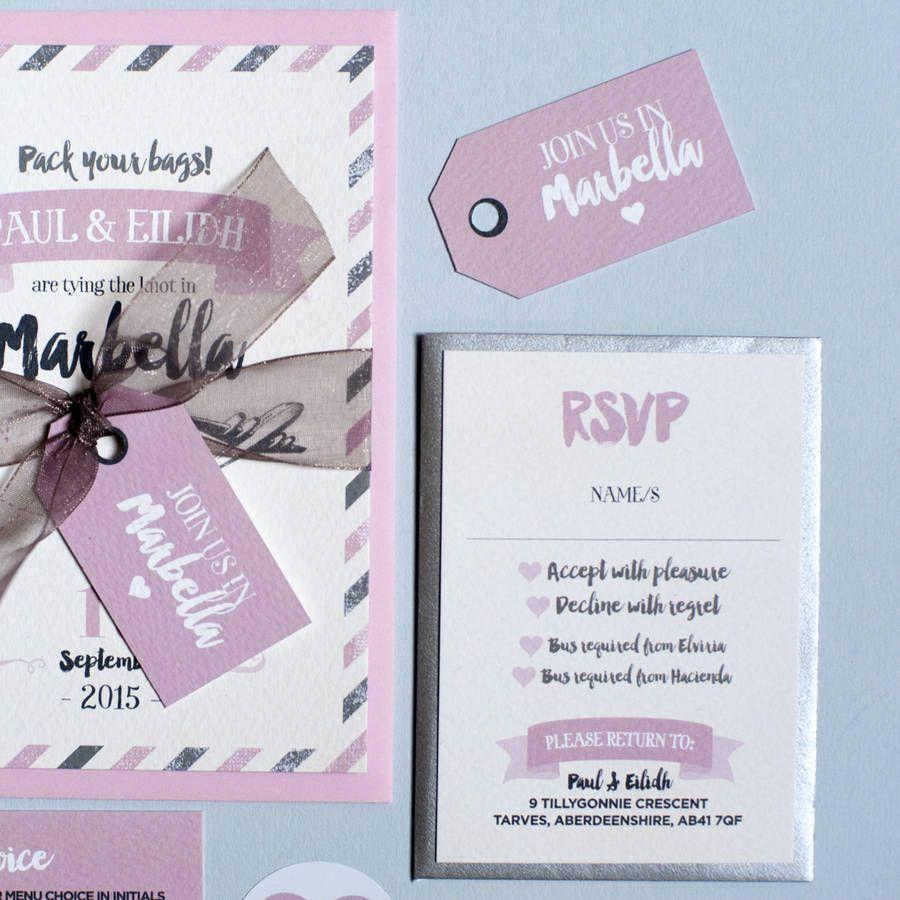 Marbella Wedding Invitation Stationery Bundle   Love Paper Co ...