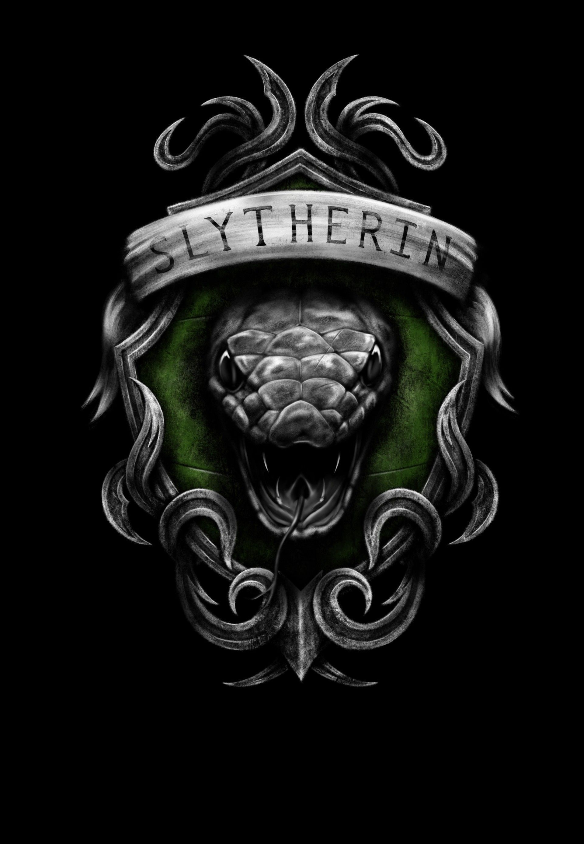 80 Slytherin Iphone Wallpapers On Wallpaperplay Harry Potter Wallpaper Harry Potter Art Slytherin Harry Potter