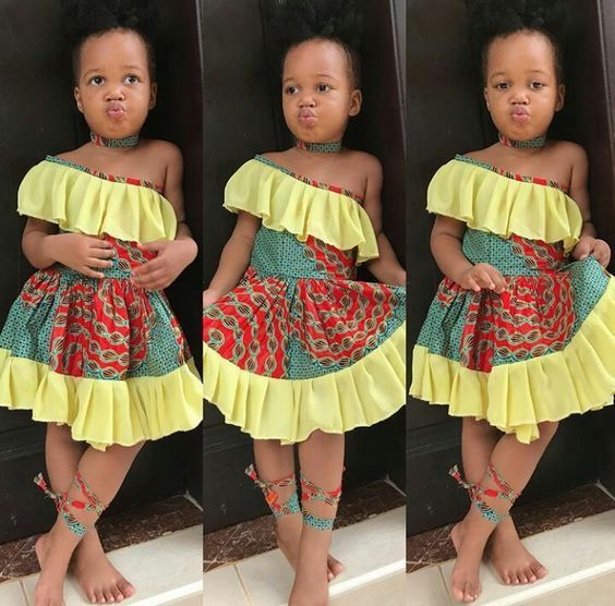 Ankara Styles For Kids; Little Girls And Baby Girls Ankara Styles ...