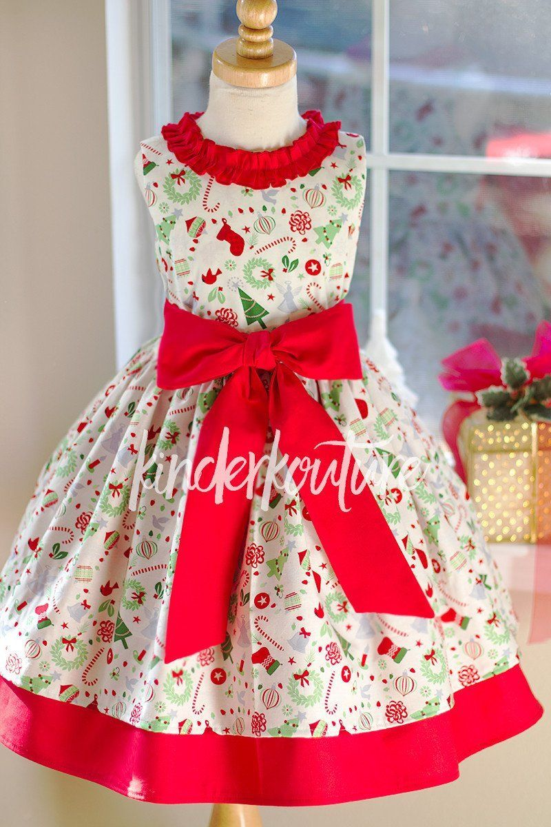 Girls Classic Jingle Christmas Dress | Sewing Clothes For Girls ...